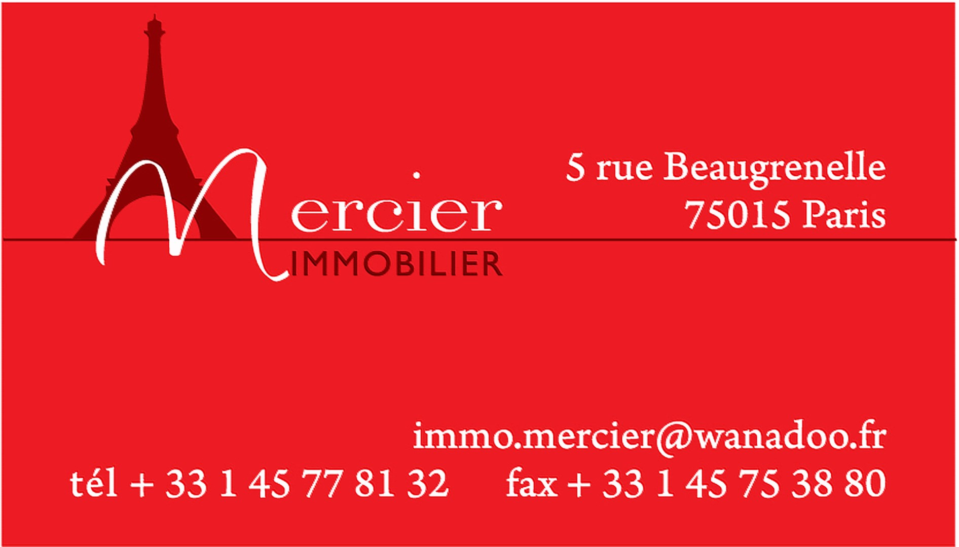 Mercier immoblier agence immobili re paris 15 me for Agence immobiliere 15eme