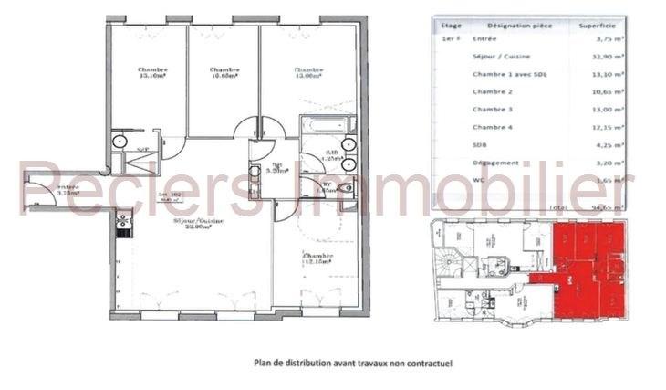 Vente Appartement 5 pièces 94m² Rueil Malmaison