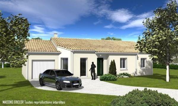 Maison  4 pièces + Terrain 4000 m² Mauprévoir par Maisons Ericlor