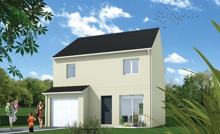 """Modèle de maison  """"Maison Cynthia"""" à partir de 5 pièces Eure-et-Loir par MAISONS FRANCE STYLE"""