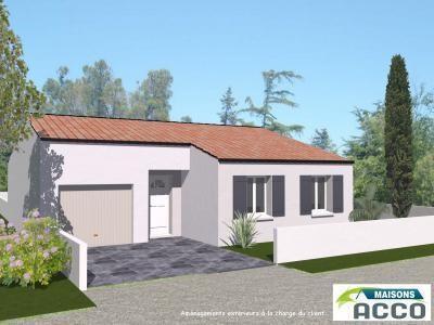 Maison  4 pièces + Terrain 487 m² Bourgneuf (17220) par LES ARTISANS CONSTR CHARENTAIS