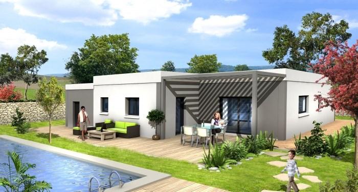 """Modèle de maison  """"OXYACANTHA la modernité avant tout ! A partir de 90 m²"""" à partir de 4 pièces Nièvre par MAISONS D'EN FRANCE BOURGOGNE"""