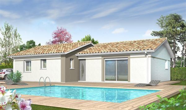 """Modèle de maison  """"Safran"""" à partir de 3 pièces Landes par IMMO CONSTRUCTION - AGENCE DE MERIGNAC"""
