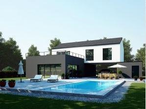 """Modèle de maison  """"Modèle de maison Néréïde 4 chambres"""" à partir de 5 pièces Yvelines par MAISONS BAZIN VASSORT"""