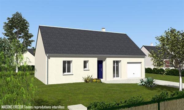 Maison  3 pièces + Terrain 1000 m² Huisseau-en-Beauce par maisons ericlor