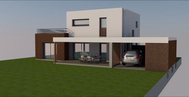 """Modèle de maison  """"Maison 117 m² avec etage"""" à partir de 4 pièces Aveyron par LOFT WOOD"""