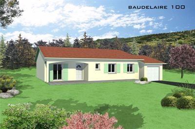 """Modèle de maison  """"Baudelaire 100"""" à partir de 5 pièces Rhône par VILLAS LESPINE"""