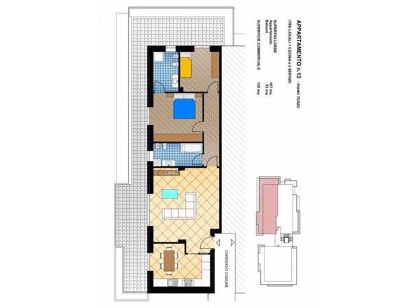 Vente Appartement 3 pièces 138m² Busto Arsizio