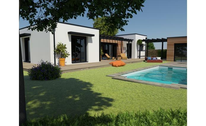 """Modèle de maison  """"Modèle toit plat"""" à partir de 4 pièces Charente-Maritime par MAISONS CTC - AGENCE DE LAGORD"""