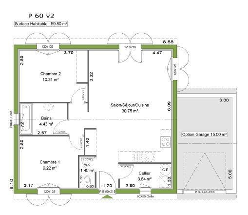 Maison  4 pièces + Terrain 518 m² Magescq (40140) par LITTORAL HABITAT