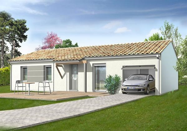 Maison  3 pièces + Terrain 666 m² Aubie et Espessas (33240) par IMMO CONSTRUCTION