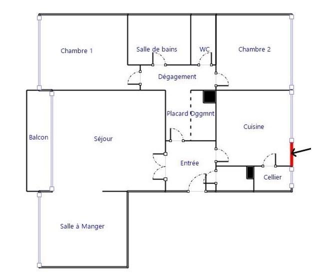 Vente appartement 4 pi ces domont appartement f4 t4 4 for Restaurant domont 95