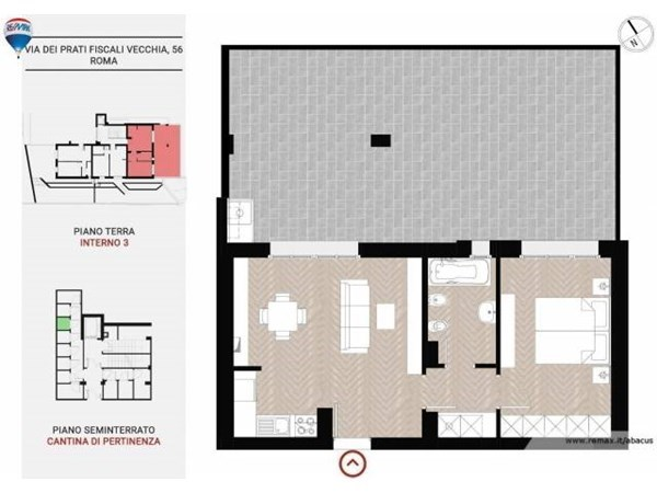 Vente Appartement 2 pièces 76m² Roma