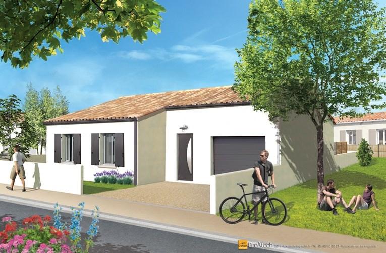 Maison  4 pièces + Terrain 403 m² Saint-Sauveur-d'Aunis par LES ARTISANS CONSTR CHARENTAIS