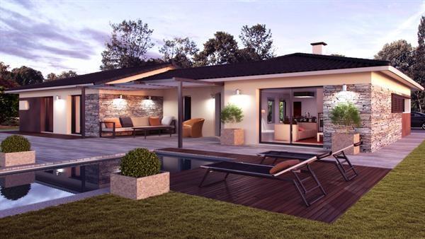 """Modèle de maison  """"Panama"""" à partir de 5 pièces Gironde par ALPHA CONSTRUCTIONS ST ANDRE DE CUBZAC"""
