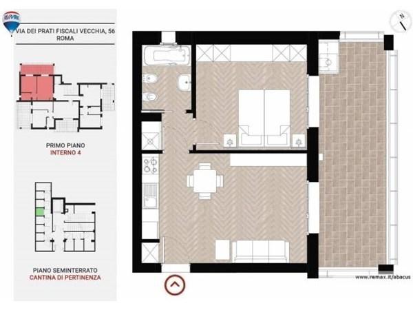 Vente Appartement 2 pièces 63m² Roma