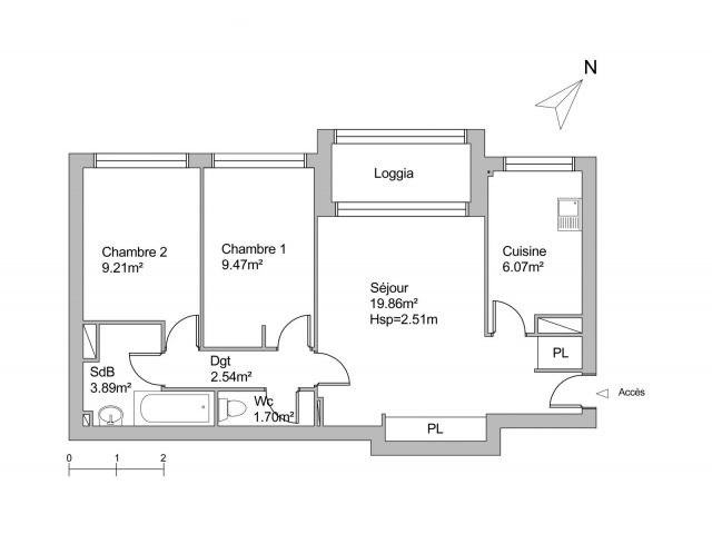 plan appartement les grandes terres marly le roi