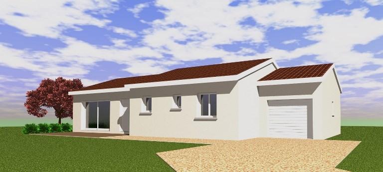 """Modèle de maison  """"Modèle de maison 4 chambres"""" à partir de 5 pièces Saône-et-Loire par VAL DE SAONE BATIMENT"""