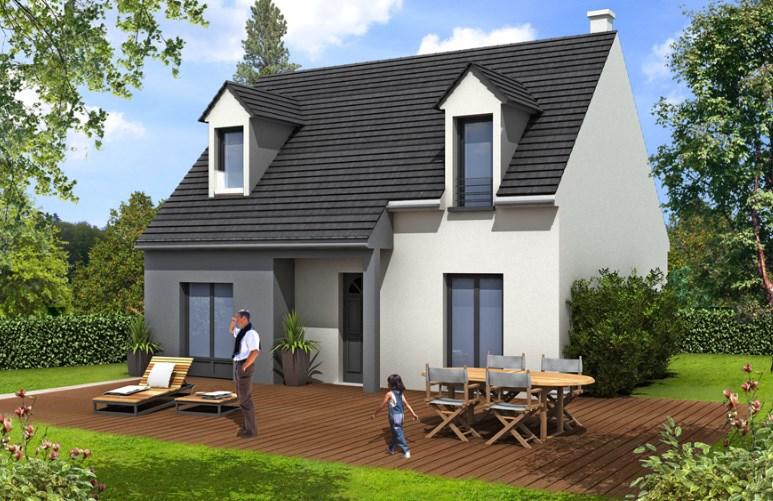 """Modèle de maison  """"Modèle de maison 5 pièces"""" à partir de 5 pièces Seine-Saint-Denis par MAISONS BARILLEAU"""