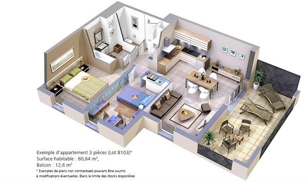 r sidence lyloa programme immobilier neuf six fours les plages propos par bouygues immobilier. Black Bedroom Furniture Sets. Home Design Ideas