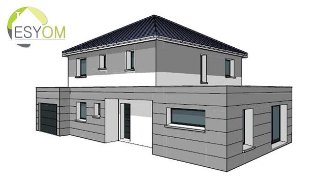 """Modèle de maison  """"Modèle de maison 6 pièces"""" à partir de 6 pièces Côte-d'Or par ESYOM"""