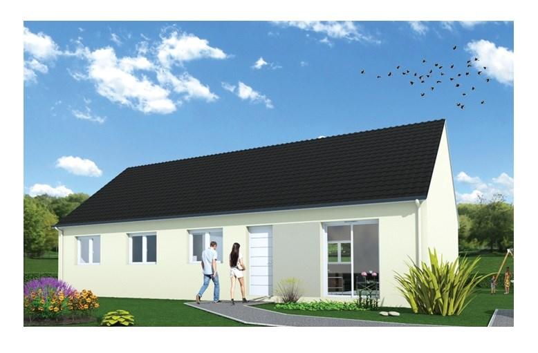 """Modèle de maison  """"Maison Prima 95"""" à partir de 6 pièces Eure-et-Loir par MAISONS FRANCE STYLE"""