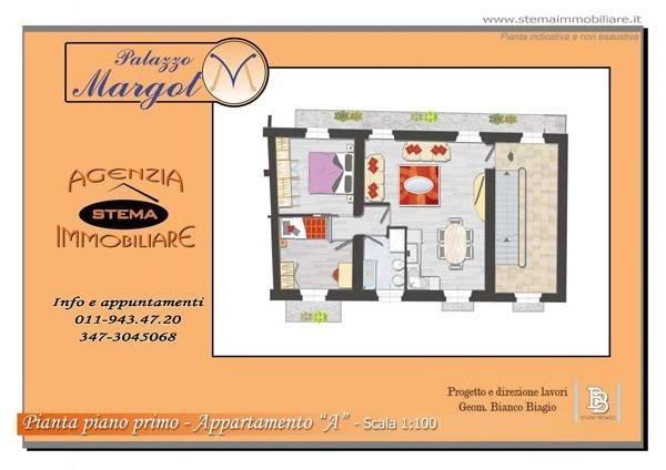 Vente Appartement 2 pièces 82m² Chieri