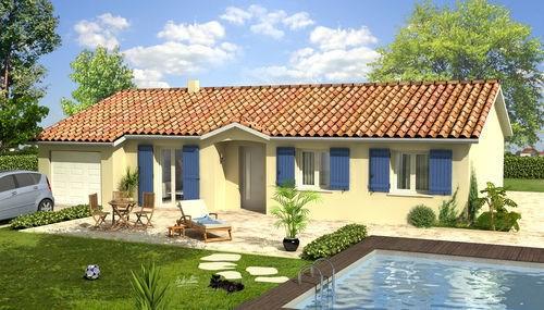 Maison  4 pièces + Terrain 1041 m² Saint Didier de Bizonnes par VOIRON CONSTRUCTIONS