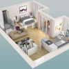 Lançamento - Programme - Le Chesnay - Plan 3D Lot 333 T2 - Photo