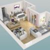Новостройкa - Programme - Le Chesnay - Plan 3D Lot 333 T2 - Photo
