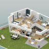 Новостройкa - Programme - Le Chesnay - Plan 3D Maison 2 R+1 - Photo