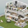 Новостройкa - Programme - Le Chesnay - Plan 3D Maison 2 R+2 - Photo