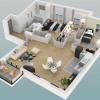 Новостройкa - Programme - Le Chesnay - Plan 3D Lot 335 T4 - Photo