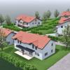 Новостройкa - Programme - Villaz - vue aérienne par la droite - Photo