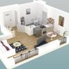 Новостройкa - Programme - Le Chesnay - Plan 3D Lot 133 Studio - Photo