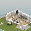 Lançamento - Programme - Le Chesnay - Plan 3D Maison 2 RDC - Photo