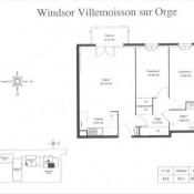 Villemoisson sur Orge, Appartement 3 pièces, 62,25 m2