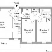 Malakoff, Apartamento 3 assoalhadas, 58,77 m2