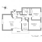 Maisons Laffitte, Appartement 3 pièces, 66,87 m2