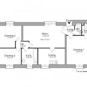 Nîmes, Appartement 4 pièces, 83,37 m2