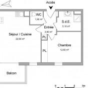 Mérignac, Appartement 2 pièces, 46,1 m2