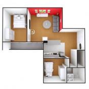 Courbevoie, Appartement 3 pièces, 56 m2