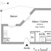 Saint Gaudens, Studio, 25,8 m2