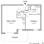Hasparren, Appartement 2 pièces, 49,19 m2