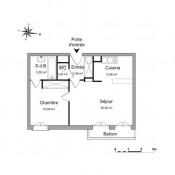 Vauréal, Apartamento 2 assoalhadas, 39,4 m2