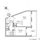 Le Plessis Robinson, Apartamento 2 assoalhadas, 43,39 m2