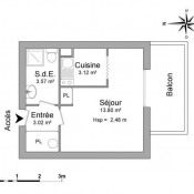 location Appartement 1 pièce Marseille 5ème