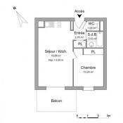 Cognac, Appartement 2 pièces, 36,49 m2