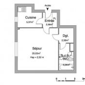 Le Pecq, Studio, 35,4 m2