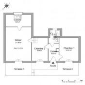 Wissous, Appartement 3 pièces, 55,34 m2